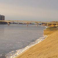 Река Урал и мост, Атырау(Гурьев)