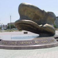 Альчик на Счастье стоял на центральной площади ещё в 2002 году, Атырау(Гурьев)