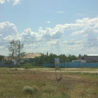 грунтовый съезд в поселок, Луговое