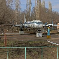 Monument of the Ilyushin-18V plane, Мерке