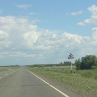 пересечение со второстепенной дорогой, Михайловка