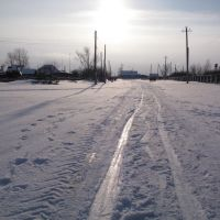 Winter time in Krasnoyarka. The Main Road., Новотроицкое