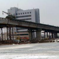 Вид нового моста со льда, Ойтал
