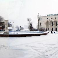 Зимнее убранство фонтана и ДК, Ойтал