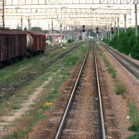 railroad, Almaty, station Otar, Отар