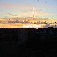"""закат с балкона  рядом с """"восходом"""", Балхаш"""