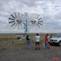Windturbine near Karaganda, Жарык