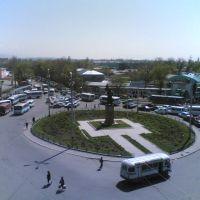 Транспортное кольцо на базаре, Тараз