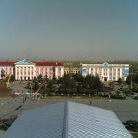 Вид с крыши Казактелекома на площадь, Тараз