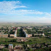 Сарань, вид с воздушного шара, панорама, Сарань