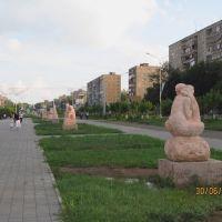 Boulevard on Metallurgov Av., Темиртау