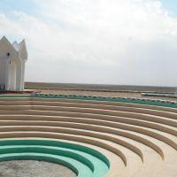 Коркыт, архитектурный памятник в форме кобыза в честь Коркыт-ата, Джалагаш