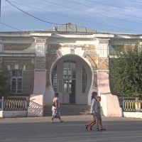 Вид здания вокзала со стороны поселка, Чиили