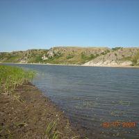 Река Ишим у села Крещенка, Володарское