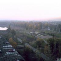 Вид с крыши на алею Славы, Красноармейск