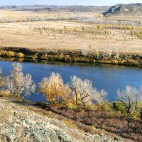 Река Урал близ устья Губерли., Ленинское