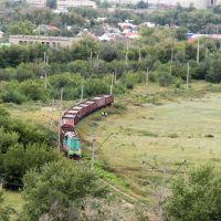 Железнодорожный поворот. 11 августа 2013 г., Новый Узень