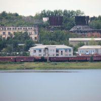 Вид на станцию со стороны озера. 11 августа 2013 г., Новый Узень