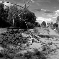Remaing Atomic Monument lingering in Kurchatov, Лебяжье
