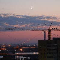 Pavlodar - blaue Stunde 2, Павлодар