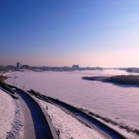 вид на павлодар с берега Иртыша, Павлодар