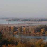 Irtysh river in autumn (view from the top of the Pavlodar Hotel), Павлодар