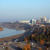 Naberezhnyy park in the center of Pavlodar city, Павлодар