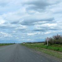 """дорожный знак: предупреждающий """"Пешеходный переход"""", Щербакты"""