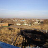 Панорама Булаево с ЖД моста., Булаево