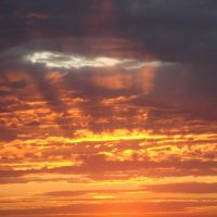 Вид на закат с берега Б.Тарангула, Корнеевка