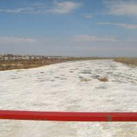 Вид на Ишим с моста гидроузла, Сергеевка
