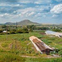 Уварово - вид с холма - Панорама 2012, Ауэзов