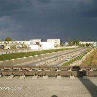 Железнодорожный мост на выезде в сторону аэропорта, Кайнар