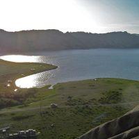 Сибинское озеро вид с горы, Кокпекты