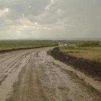 On the road between Semey and Ust-Kamenogorsk, summer 2007, Новая Шульба