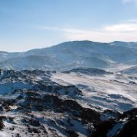 "Зимний вид.""Дегелен""// Degelen mountain pass. Winter, Семипалатинск"