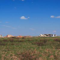City model ruins., Семипалатинск