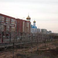 Astana, Zhirentaev street, park, Таскескен
