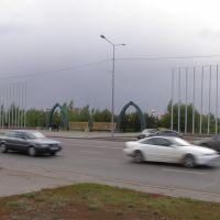 Президентский парк на проспекте Мамыш-улы/Presidential Park on Prospect Mamysh-uly, Таскескен
