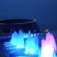 Геометрия форм на фоне фонтана, Таскескен