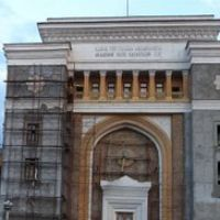 Академия Наук Казахской ССР, панорама из 12-ти фотоснимков, 2007г., Панфилов