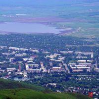 Вид на город Текели с гор, Текели