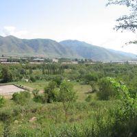 Вид на басейн и район города, Текели