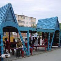 kustanay - Qostanay 20-6-2004 parada de autobus, Амангельды