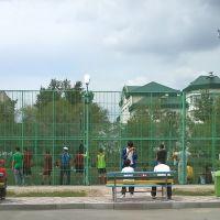 Футбольная площадка, Аксу