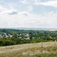 Глубокое - Вид сверху - Панорама 2012, Алексеевка