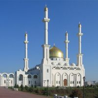 "A view on mosque ""Nur-Astana"" (Вид на мечеть ""Нур-Астана""), Астана"