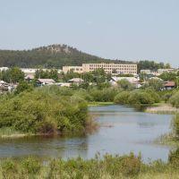 вид на школу с левого берега, Балкащино