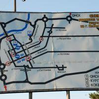Схема движения транзитного транспорта по г. Петропавлоск, Жалтыр