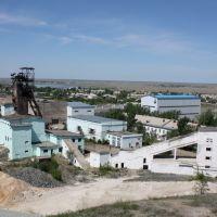Рудник Жолымбет шахта центральная - вид летом, Жолымбет